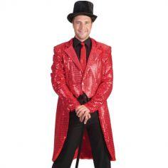 Veste Homme - Queue de Pie - Rouge - Taille au Choix