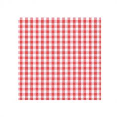 Sachet de 20 Serviettes Cocktail - Carreaux Vichy - Rouge | jourdefete.com