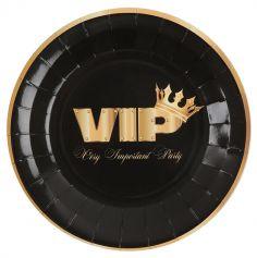 assiettes-VIP-anniversaire-or-noir|jourdefete.com