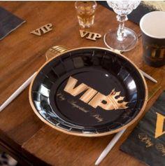 10 Assiettes en carton - Collection VIP