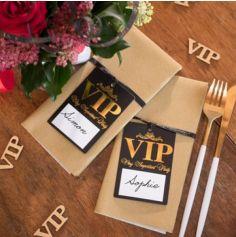 10 Marque-places avec ruban - Collection VIP