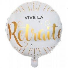 Ballon Helium Rond - Vive la Retraite - Elegant | jourdefete.com
