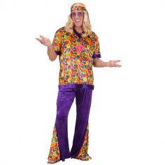 Déguisement de Hippie Coloré pour Homme - Taille au Choix