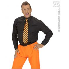 Cravate Flashy Rayée Orange et Noire