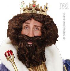 Perruque de Roi Barbare Brune