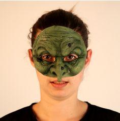 Demi-Masque en Latex de Vieille Sorcière