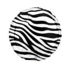 ballon aluminium helium zebre | jourdefete.com