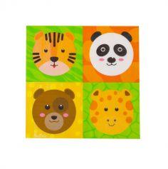 serviettes-anniversaire-zoo-party | jourdefete.com