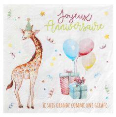 serviettes-joyeux-anniversaire-zoo-party|jourdefete.com