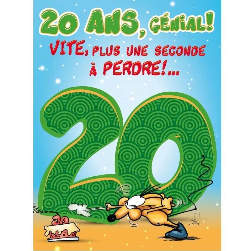 Carte D Anniversaire Geante Avec Enveloppe 20 Ans Jour De Fete Boutique Jour De Fete
