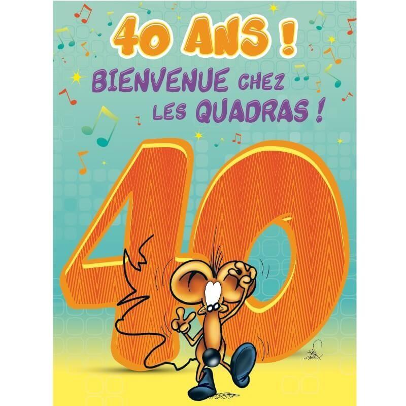 Carte D Anniversaire Geante Avec Enveloppe 40 Ans Jour De Fete Boutique Jour De Fete
