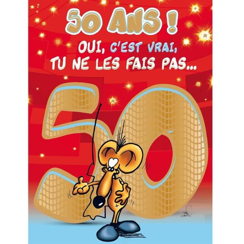 Carte D Anniversaire Geante Avec Enveloppe 50 Ans Jour De Fete Boutique Jour De Fete