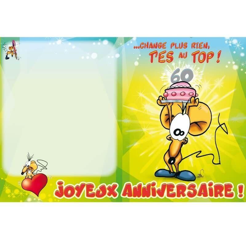 Carte D Anniversaire Geante Avec Enveloppe 60 Ans Jour De Fete Boutique Jour De Fete