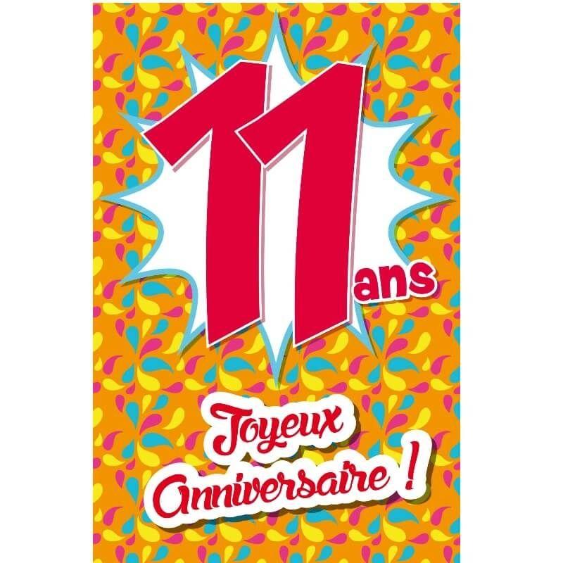 Carte D Anniversaire Decoup Age Avec Enveloppe 11 Ans Jour De Fete Boutique Jour De Fete