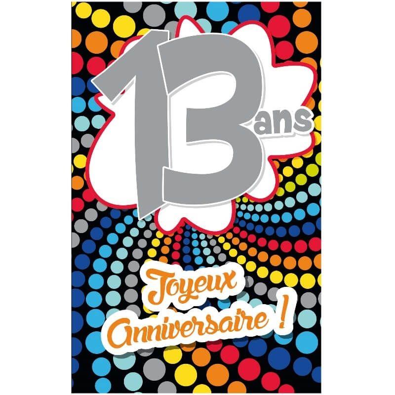 Carte D Anniversaire Decoup Age Avec Enveloppe 13 Ans Jour De Fete Boutique Jour De Fete