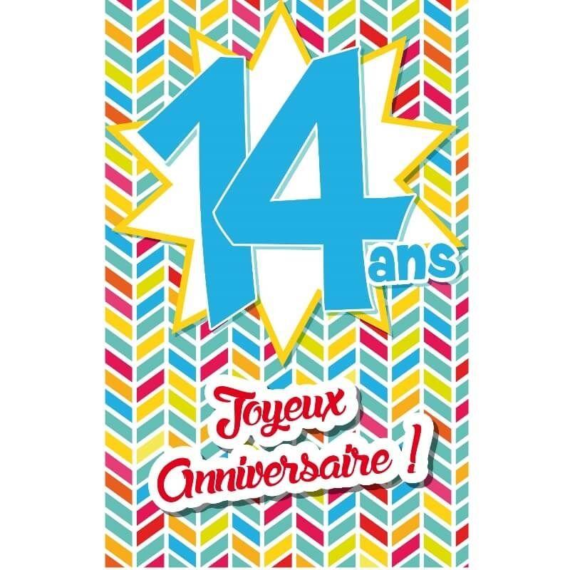 Carte D Anniversaire Decoup Age Avec Enveloppe 14 Ans Jour De Fete Boutique Jour De Fete