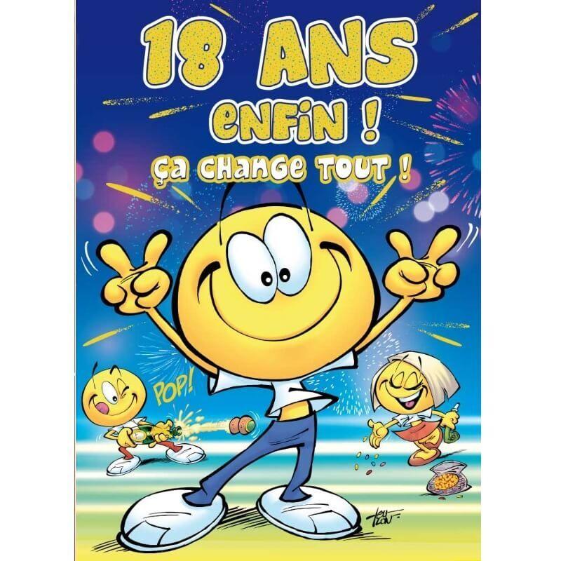 Carte D Anniversaire Maxi Format Avec Enveloppe 18 Ans Jour De Fete Boutique Jour De Fete