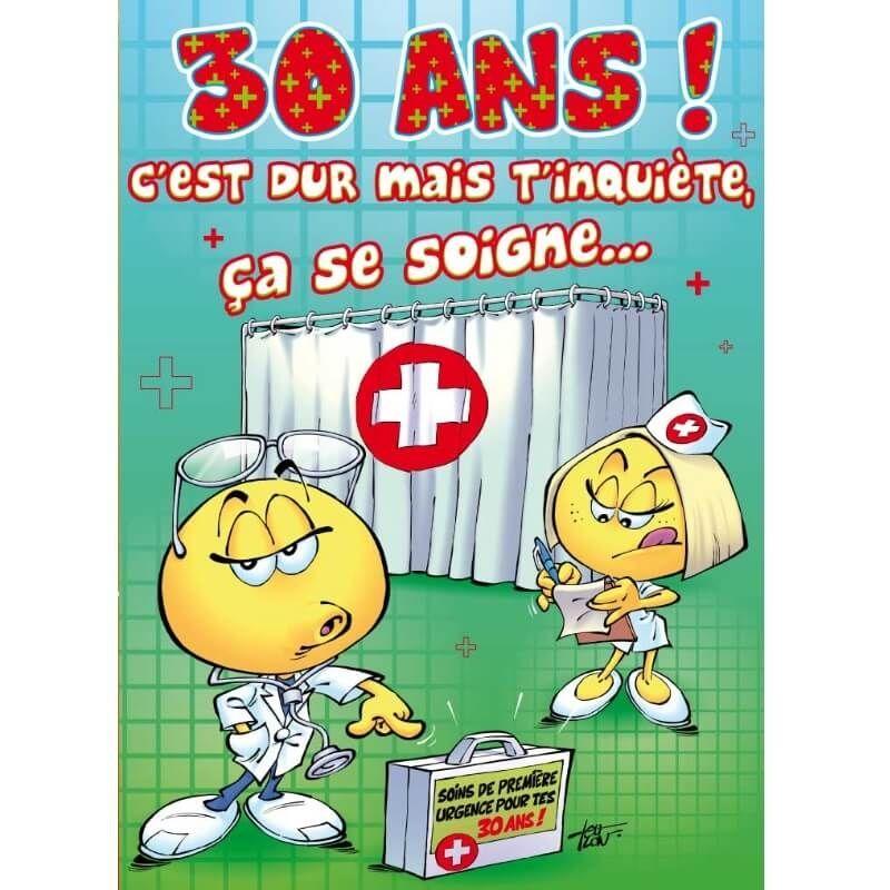 Carte D Anniversaire Maxi Format Avec Enveloppe 30 Ans Jour De Fete Boutique Jour De Fete