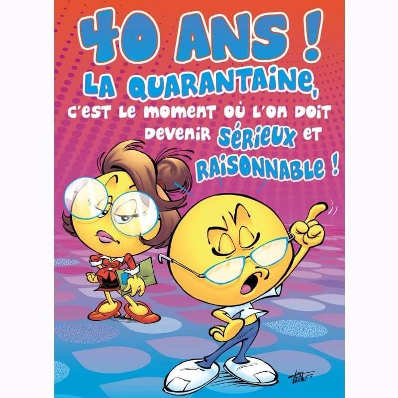 Carte D Anniversaire Maxi Format Avec Enveloppe 40 Ans Jour De Fete Boutique Jour De Fete