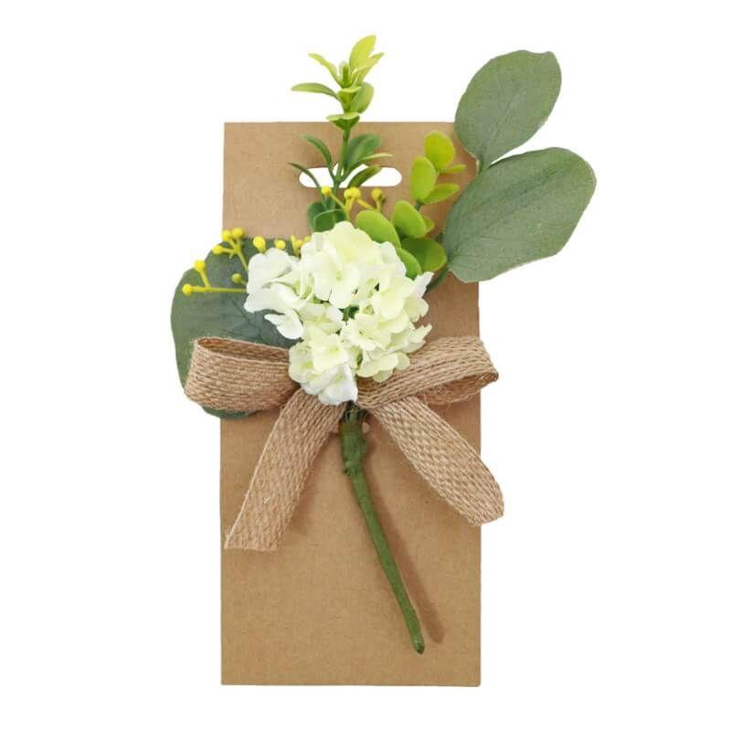 Bouquet De Fleurs Blanches 18 Cm Jour De Fete Decoration Florale Decoration De Table