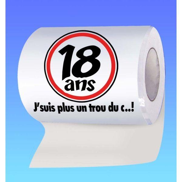 Papier Toilette Humoristique Anniversaire 18 Ans Jour De Fete Boutique Jour De Fete