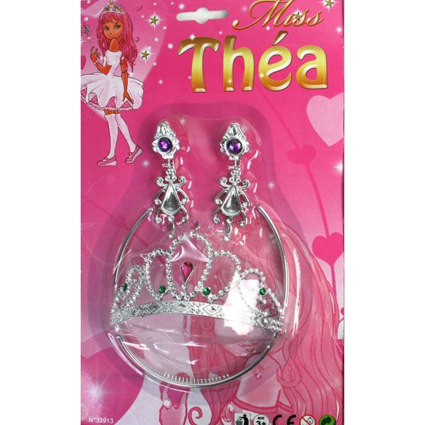 MJARTORIA 8PCS Princesse Dress Up Accessoires Set Bijoux DIY Colier Petite Fille Enfants Cadeau danniversaire Fille Combinaison de Cadeau de No/ëL