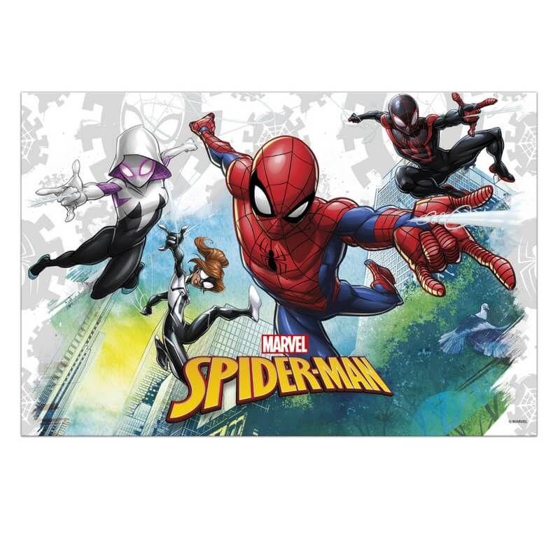 Nappe Spiderman X1 Jour De Fete Marvel Licences Et Themes