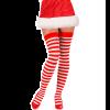 Bas Sexy de Noël Rayés Rouge et Blanc