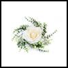Rose décorative et feuillage de centre de table - Ivoire