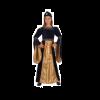 Déguisement Princesse Médiévale Bleu et Doré Velours Fille - Taille au Choix