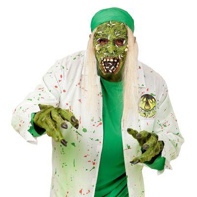 Masque de Zombie Toxique avec Cheveux