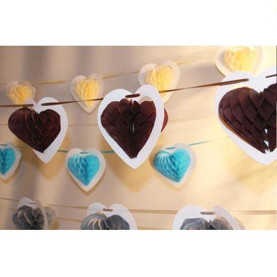 Guirlande Coeur sur Ruban - Chocolat