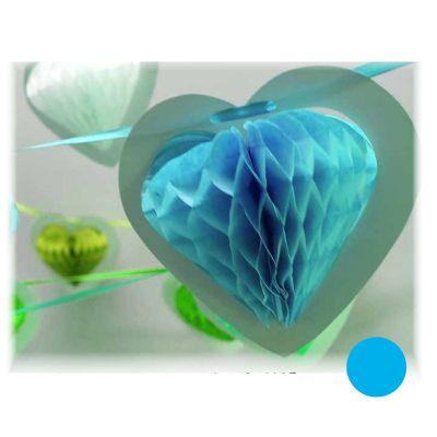 Guirlande Coeur sur Ruban - Turquoise