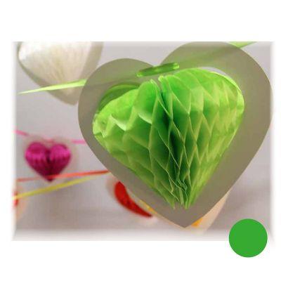 Guirlande Coeur sur Ruban - Vert