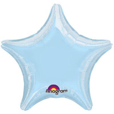 Ballon Hélium - Etoile Bleue Pastel