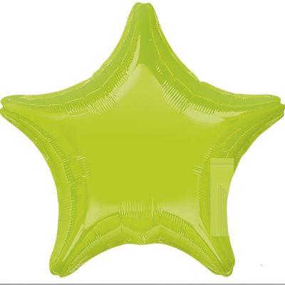 Ballon Métallique Hélium Etoile - Vert Citron