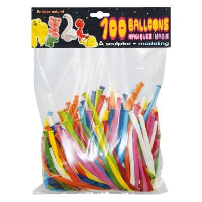 100 Ballons à Modeler Assortis