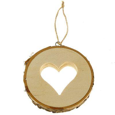 rondin de bois avec coeur et lien de 10 cm | jourdefete.com