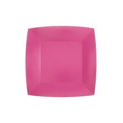 assiette carree 18 cm compostable couleur au choix | jourdefete.com