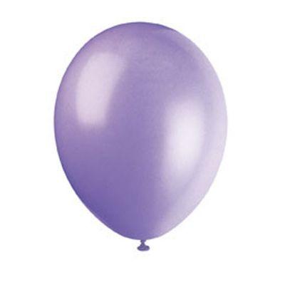 50 Ballons de Baudruche Métallisés Lilas