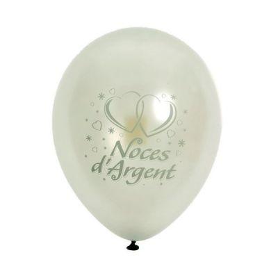 10 Ballons de Baudruche Noces d'Argent