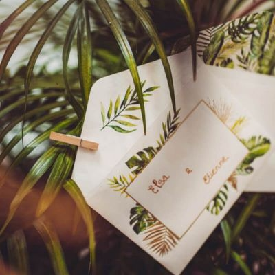 invitations-enveloppes-tropical-mariage | jourdefete.com