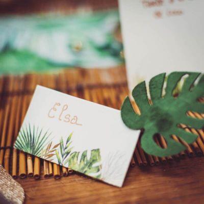 marque-place-tropical-ceremonie-mariage | jourdefete.com