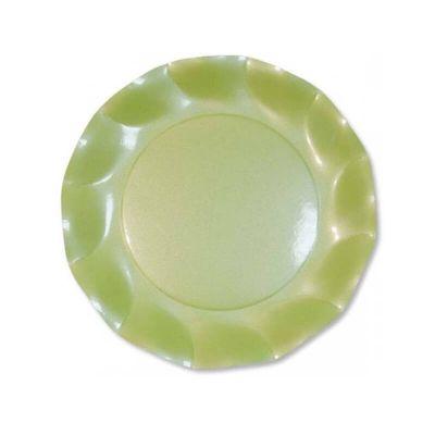 assiettes-dessert-carton-vert-pastel | jourdefete.com