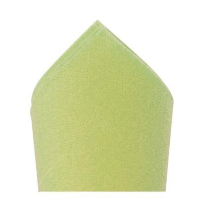 100 Serviettes Ouate de Cellulose 38 x 38 cm - Vert amande | jourdefete.com