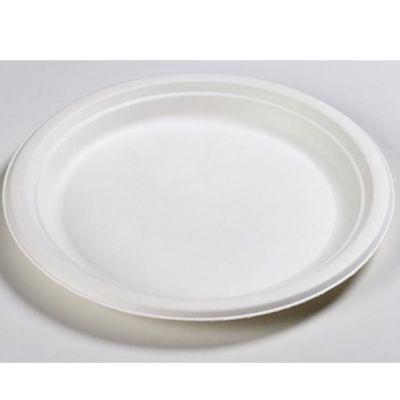 12 assiettes en carton biodégradable - 23cm diamètre - Blanc | jourdefete.com