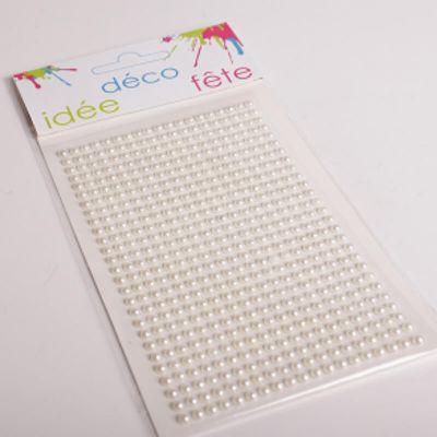 Planche de 513 perles nacrées - Blanc
