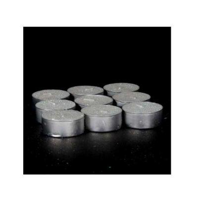 9 Bougies chauffe-plat à paillettes - blanche