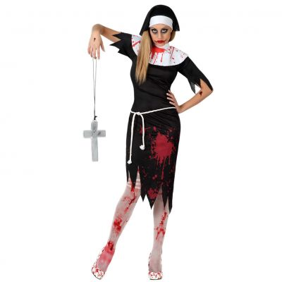 Déguisement Bonne-Soeur Zombie Femme
