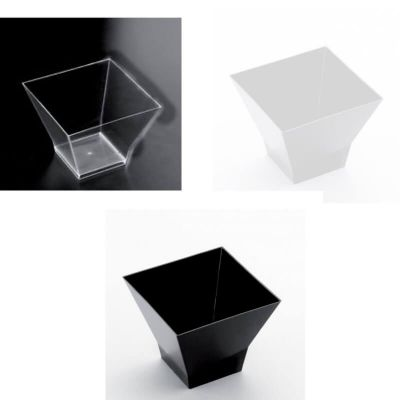 15 Coupelles a Verrine Cube 60CC - Coloris au Choix | jourdefete.com